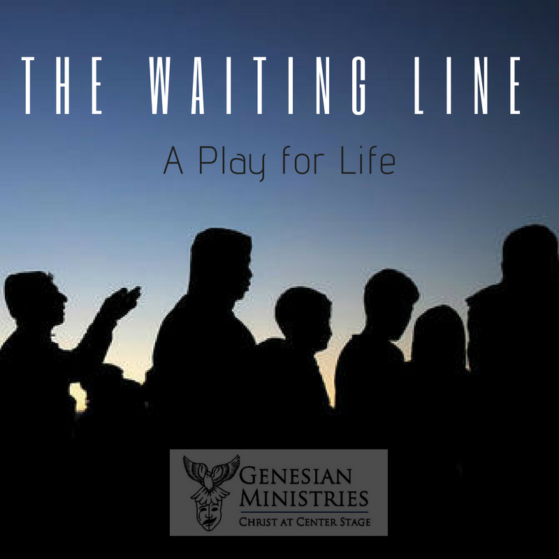 Three people find themselves in a line. How they got there, they do not know. This thirty minute play is a unique look at issues regarding abortion, euthanasia, and life issues in general. Ideal as a catalyst for difficult conversations on hot button issues,  The Waiting Line , is a humorous, intense, gripping drama. Ages 14 and up suggested (due to mature content).