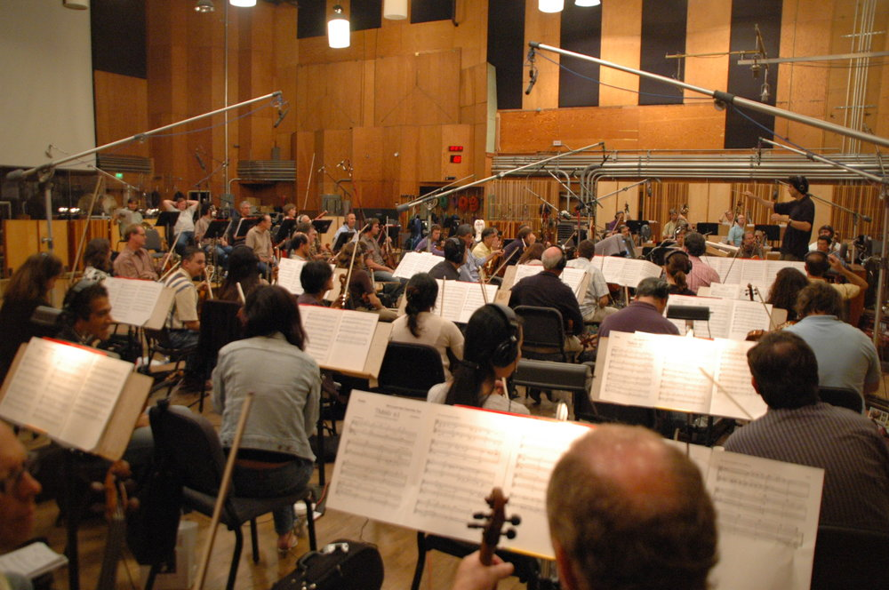 He's Just Not That Into You, recording session at the Newman Scoring Stage, 20th Century Fox