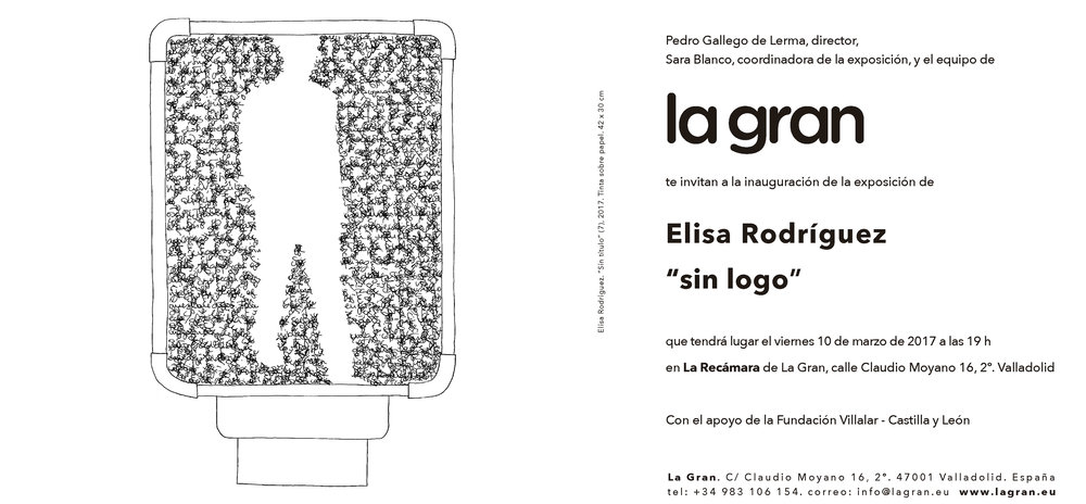 Invitation to the opening of the exhibition, the past March 10th in Valladolid.