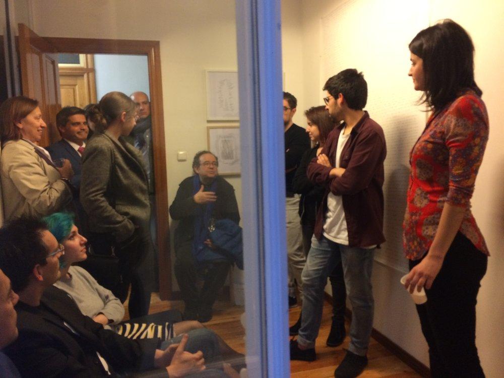 Presentación de la documentación de la valla de Noa González en La Recámara de La Gran. Foto: Sara Blanco.