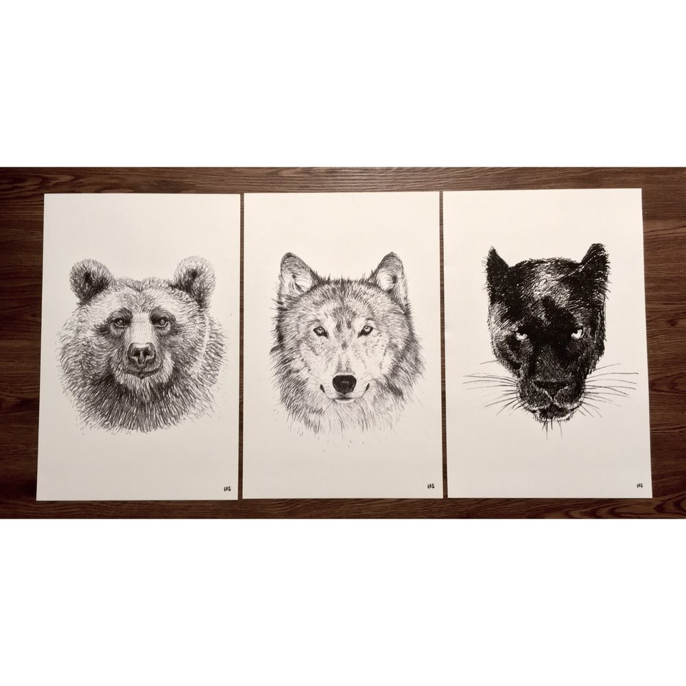 Black and White prints made for a client