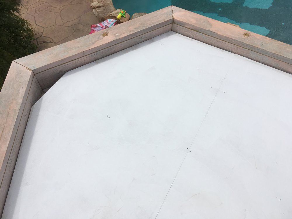 Top of painted cap for gazebo