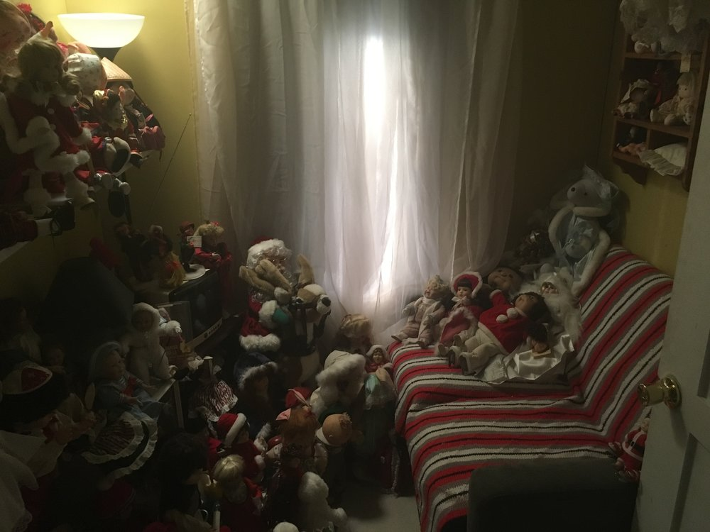 Doll hoarding room