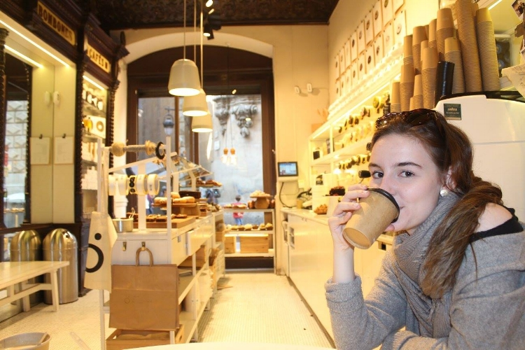 In my natural habitat (drinking dark, strong coffee)