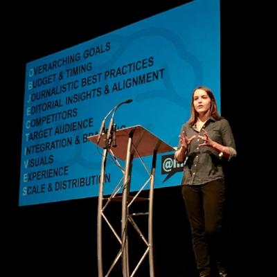 Deziel, presenting at the Digital Summit Denver, 2016. Credit:    mdeziel.com