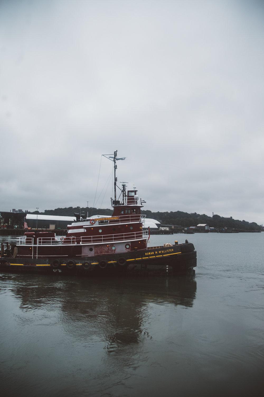 Tugboat Rowan McAllister in Portland Harbor. Jenny Rebecca Nelson © 2016