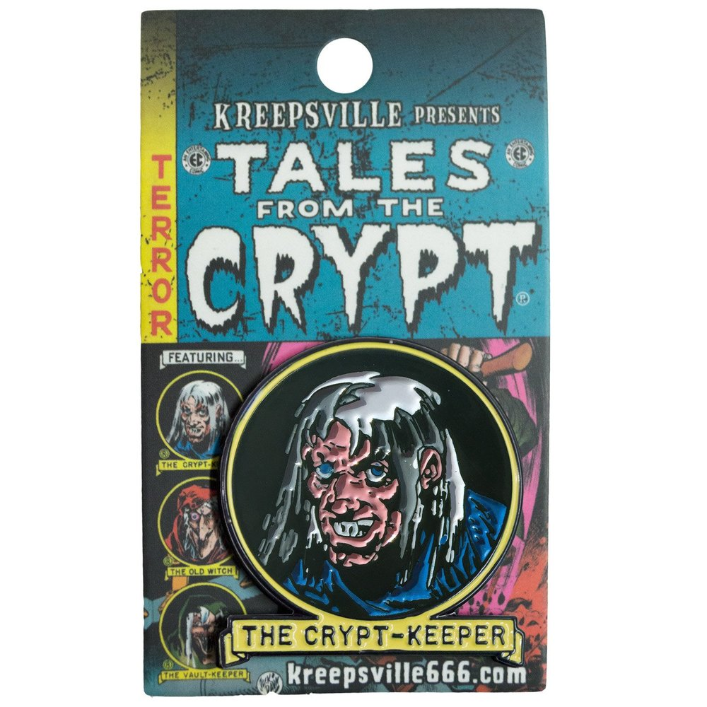 Tales From The Crypt Crypt Keeper Enamel Pin Badge