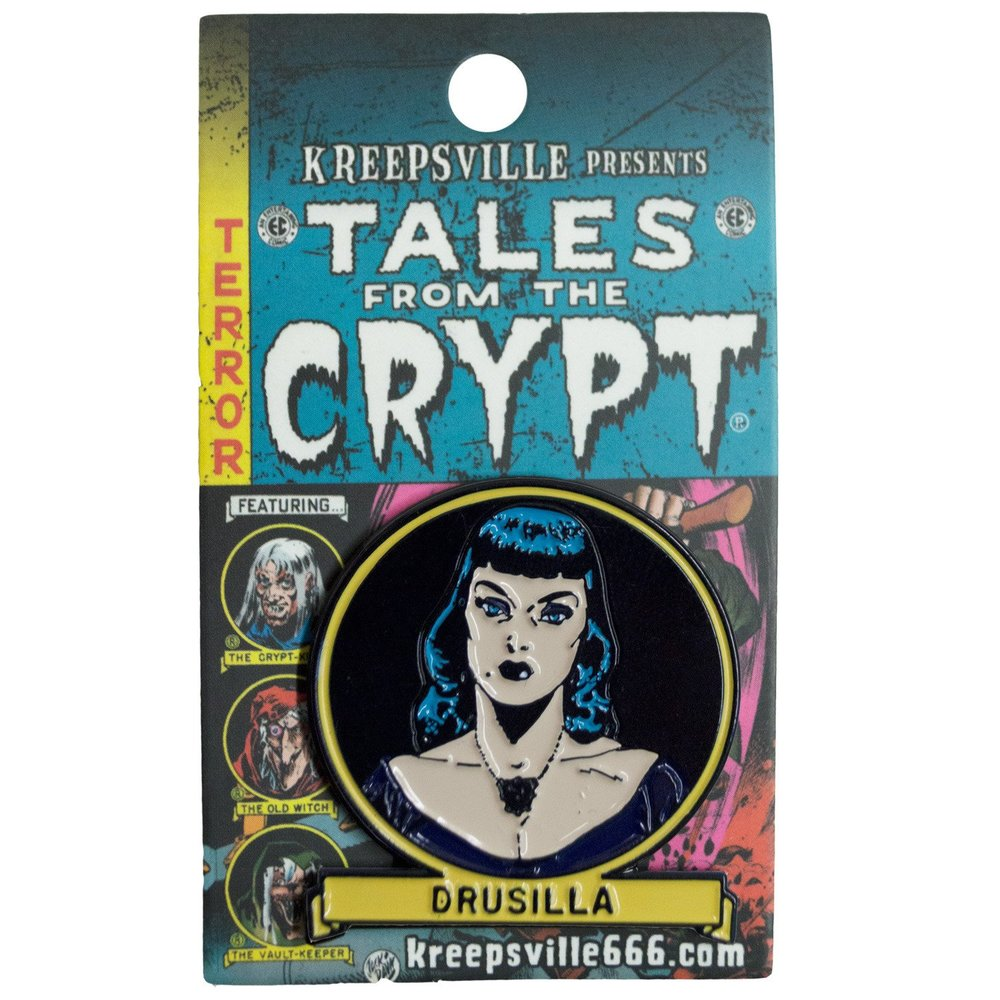 Tales From The Crypt Drusilla Enamel Pin Badge