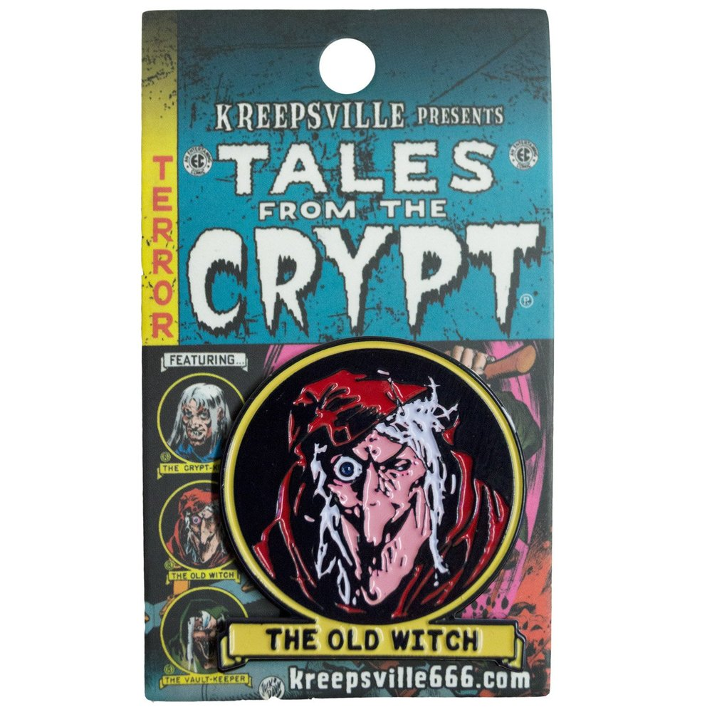 Tales From The Crypt Old Witch Enamel Pin Badge