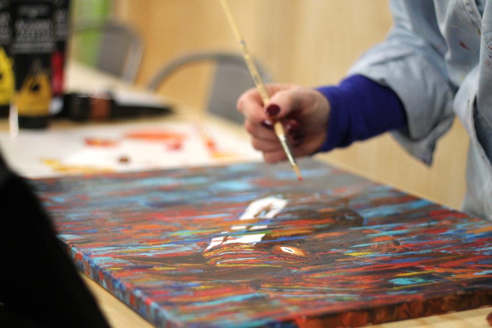 Studio Art Lab - Janet painting.JPG