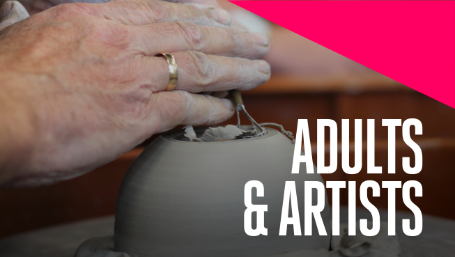 The Studio Art Lab program provides classes and programs where adults & artists can learn, explore, and create new work in high quality studio spaces.   About the Studio Art Lab   Adult Art Classes   Studio Access