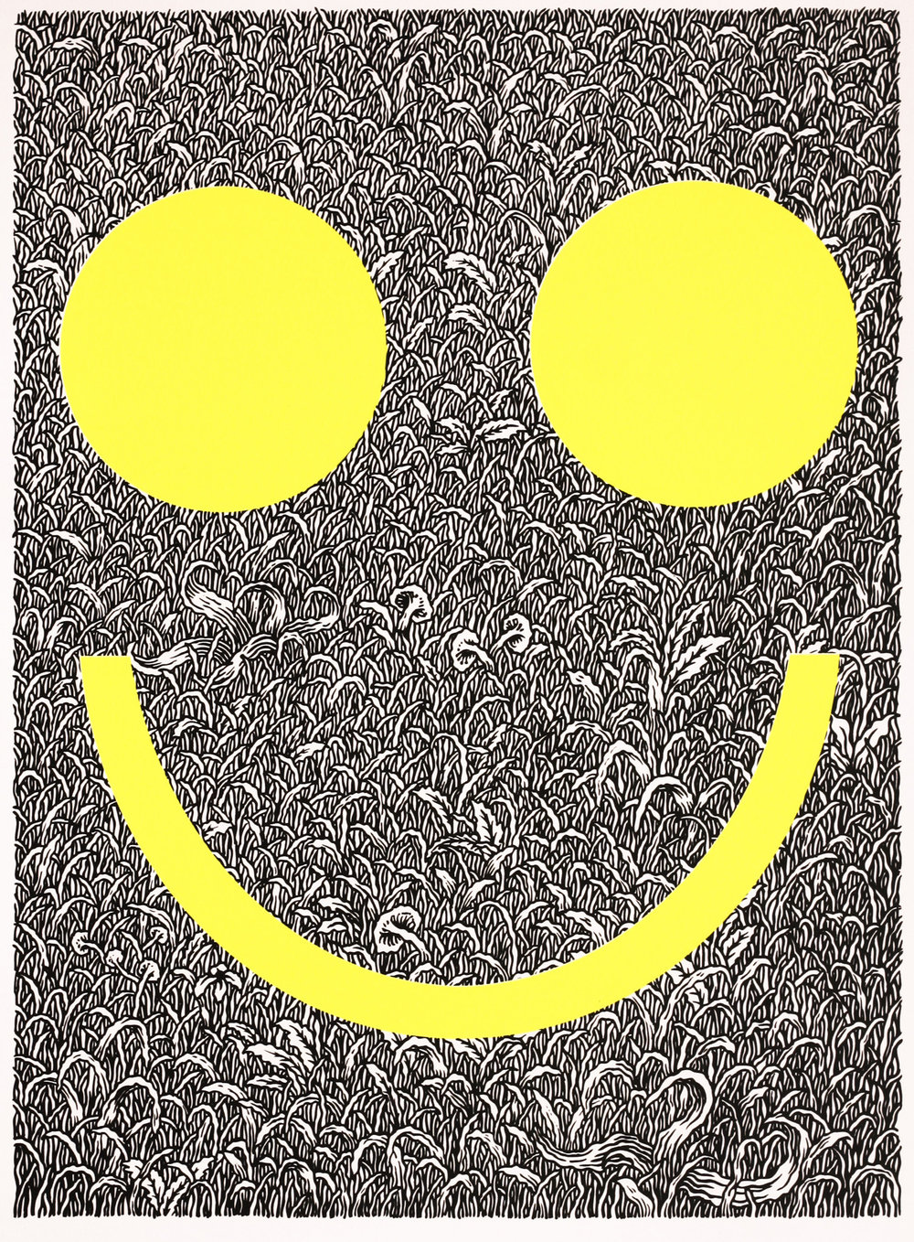 Tyler Krasowski   Smiless   screenprint  2014