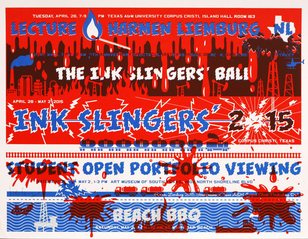 Harmen Liemburg   Ink Slingers' Ball   screenprint  2015