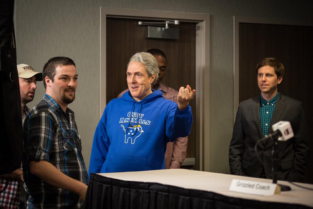 David directing Weird Al.