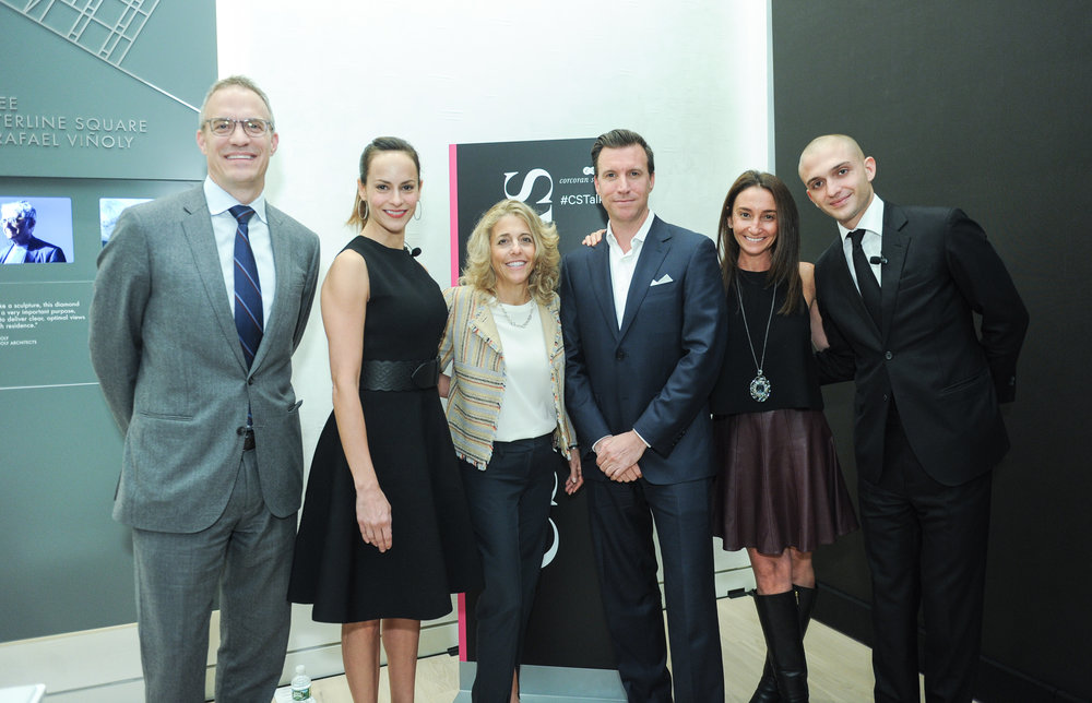 John Gagnier of GID Development Group, Melissa Ziweslin of Corcoran Sunshine, Pamela Liebman, President & CEO of Corcoran, developer James Linsley of GID Development Group, Kelly Kennedy Mack, President of Corcoran Sunshine, and Maggio Cipriani of Cipriani Restaurant Group