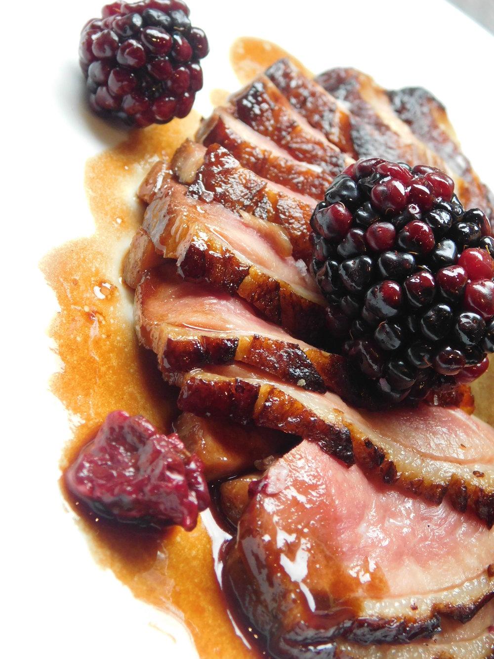 Tavern62 by David Burke_ Roasted Duck with Blackberries.jpg