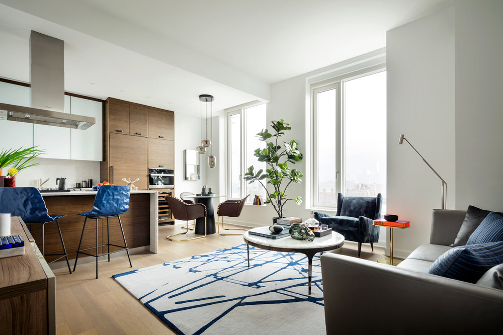 One Hudson Yards Living Area w Kitchen - courtesy of Related.jpeg