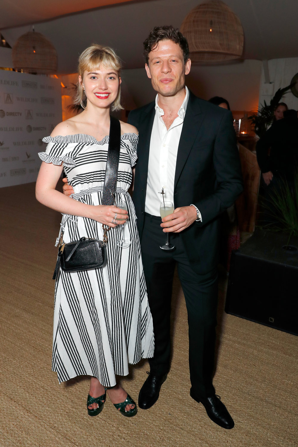 Imogen Poots and James Norton Toast