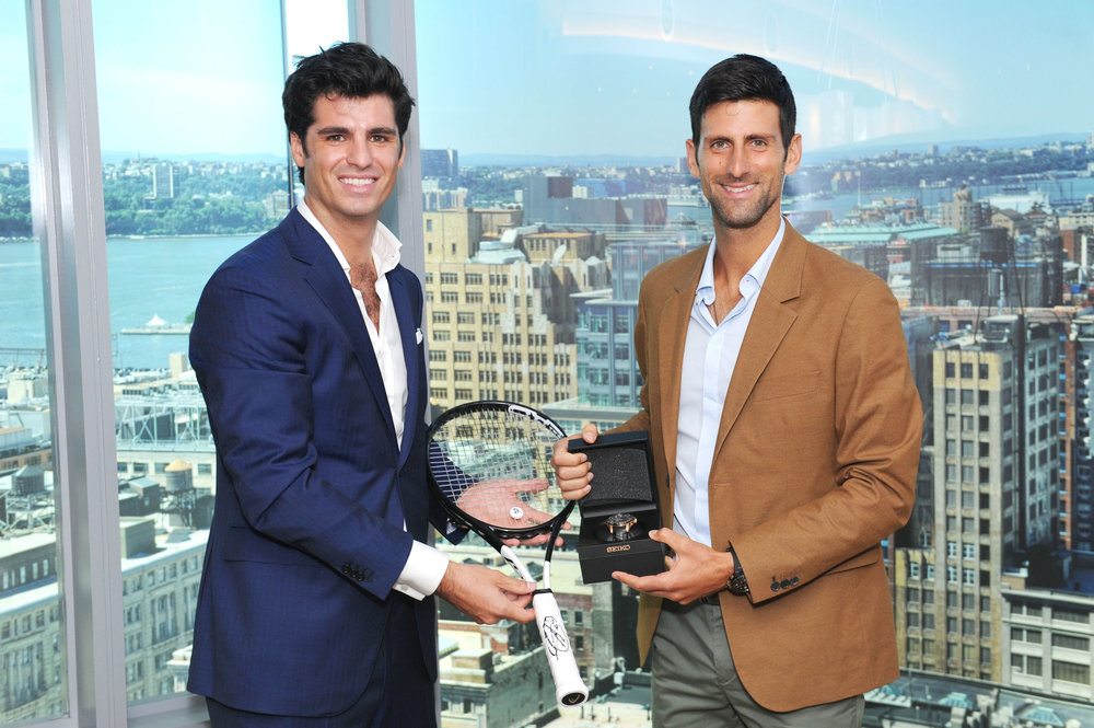 Alessandro Pallaoro and Novak Djokovic