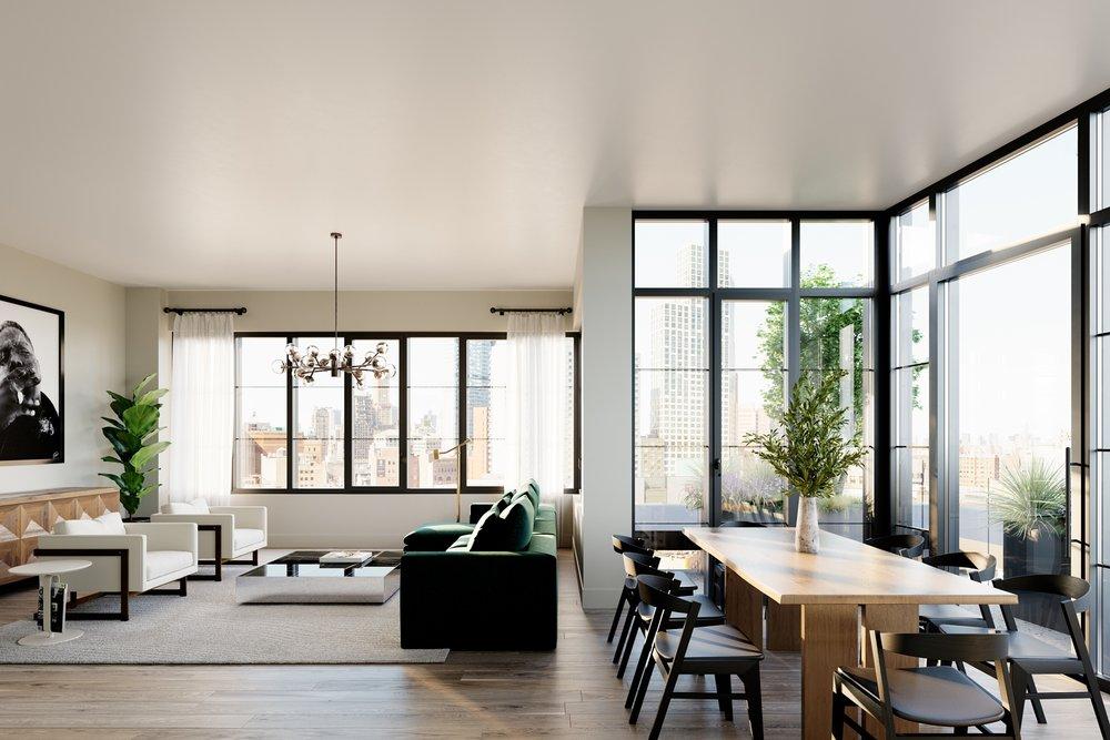 1 Flatbush Living Room