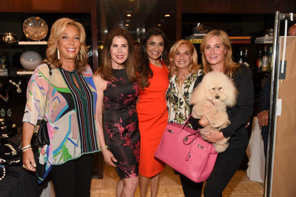 Denise Rich, Lauren Roberts, Queenie Singh, Michele Rella, Sonja Morgan with Marley Morgan