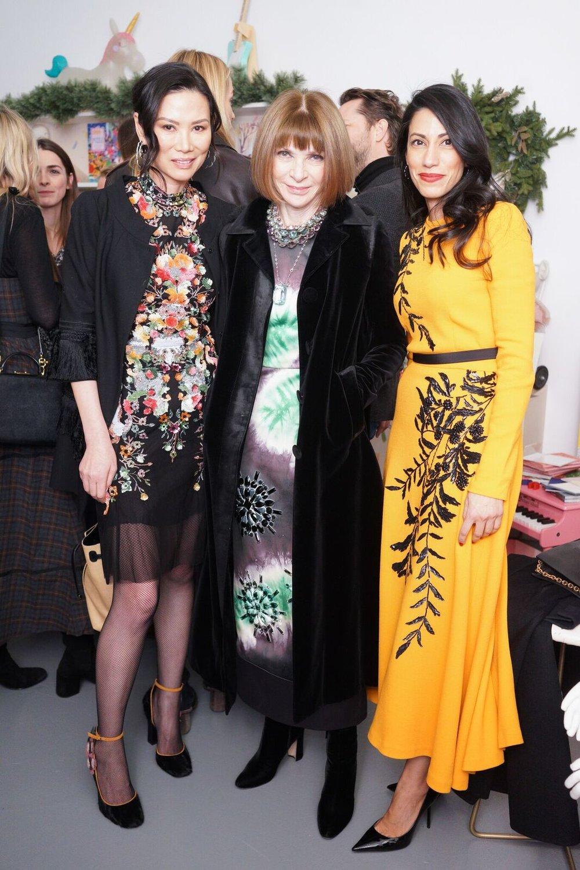 Wendi Murdoch, Anna Wintour, and Huma Abedi