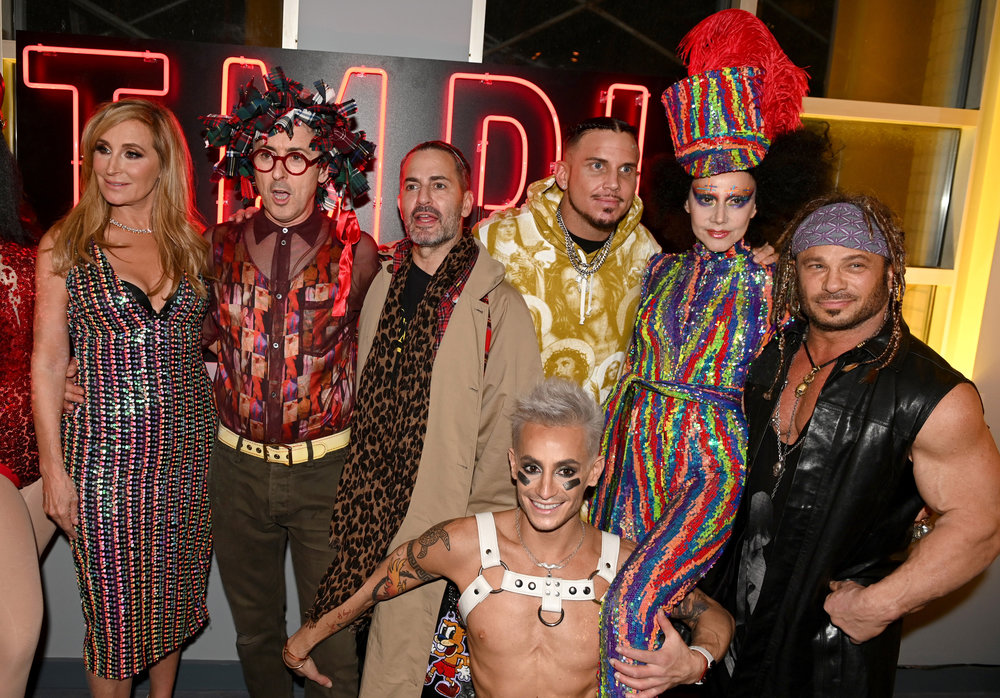 Sonja Morgan, Alan Cumming, Marc Jacobs, Char Defrancesco, Frankie Grande, Susanne Bartsch and David Bartonattend the grand opening of TMPL West Village while celebrating David Barton and Susanne Bartsch's Annual Toy Drive event