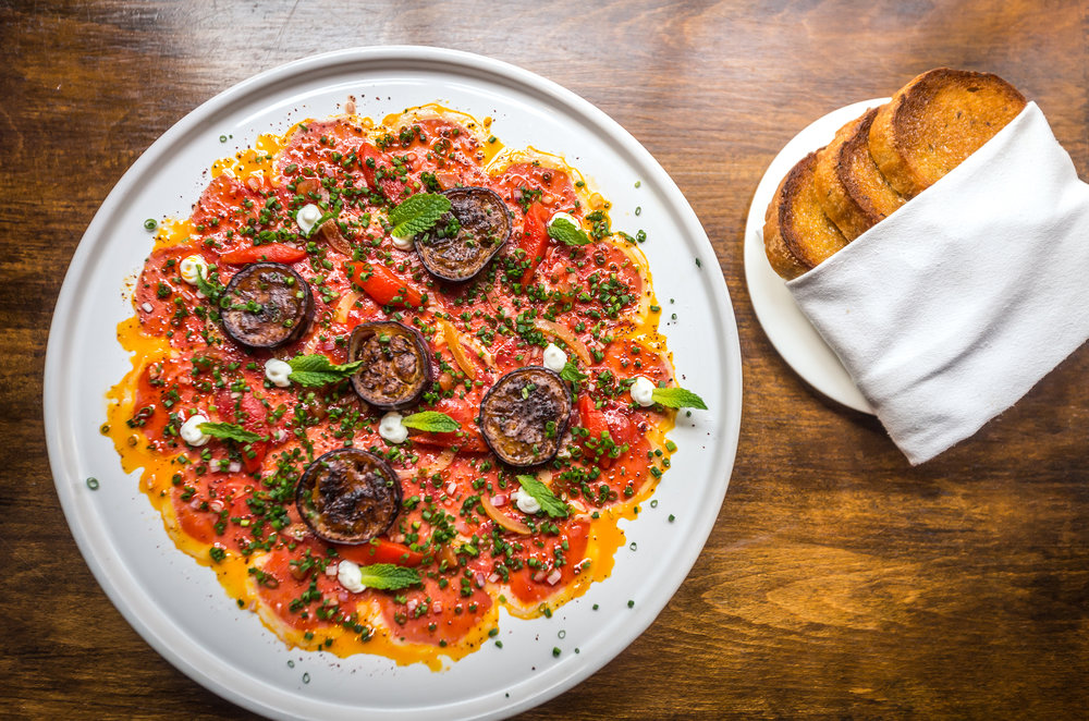 Lamb Carpaccio. photo credit Noah Frecks