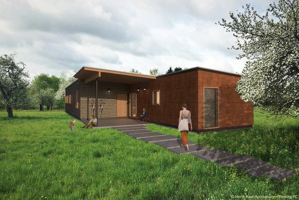 Catskills Passive House Concept Exterior 2