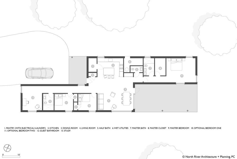 Catskills Passive House Concept Floor Plan