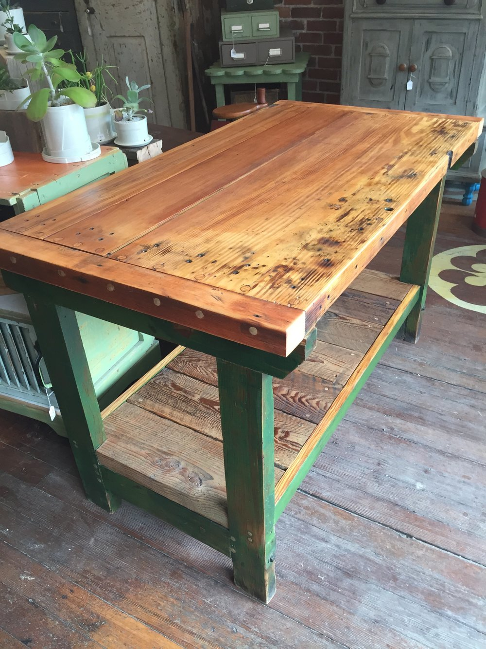 Reclaimed Workbench Island