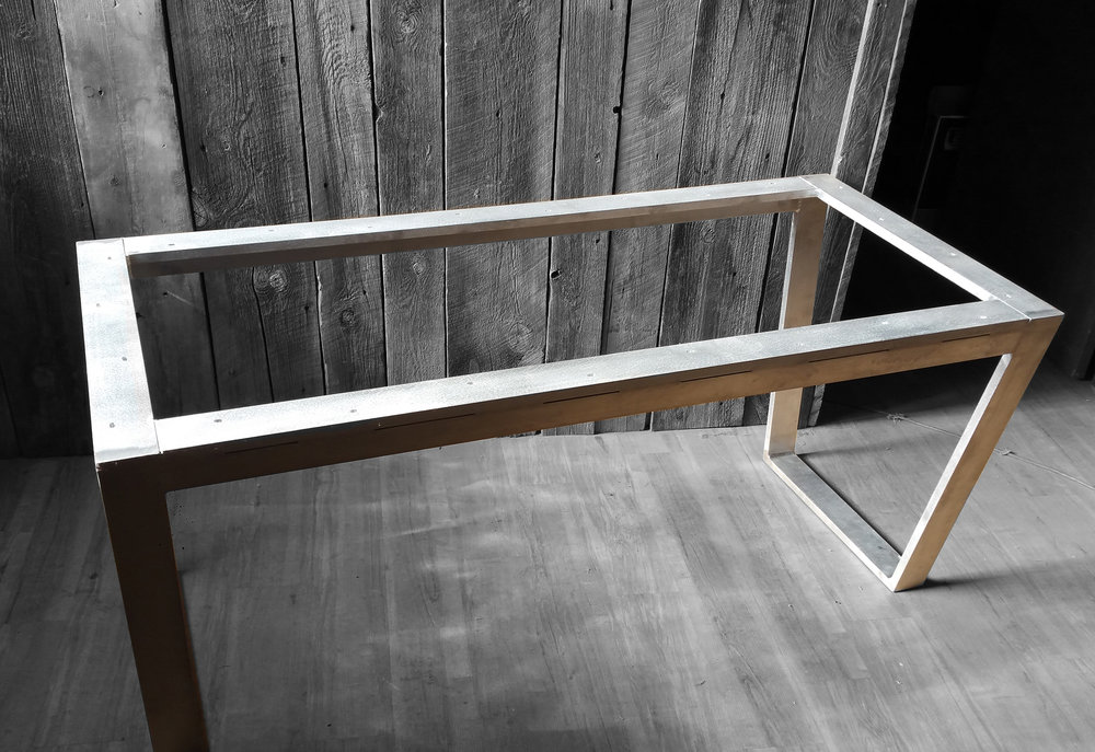 Portfolio Homestead Metalworks Design Homestead Metalworks Design - Brushed aluminum table base