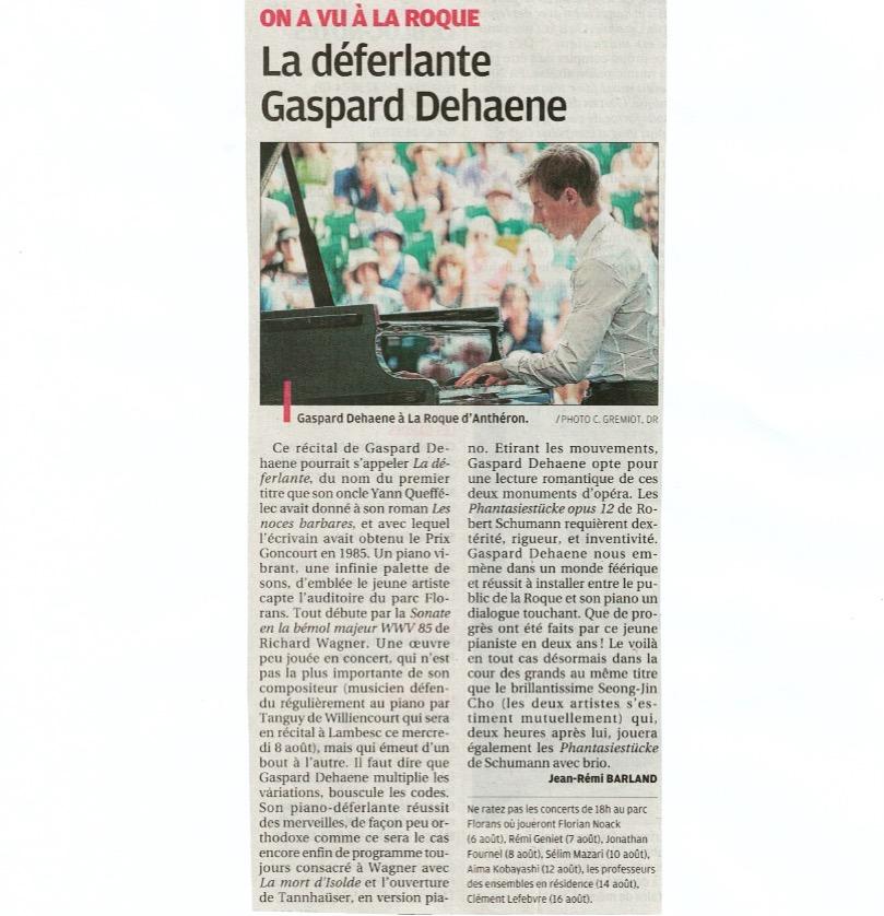 "Journal ""la Provence"" du 3 août 2018 -"