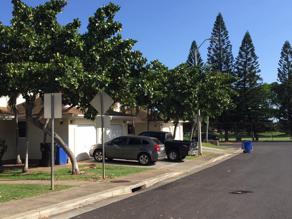 Moanalua Terrace base housing Pearl Harbor near NEX