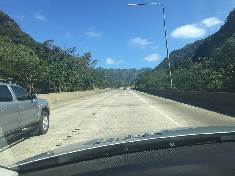 H3 Drive to Kaneohe is little traffic from Camp Smith