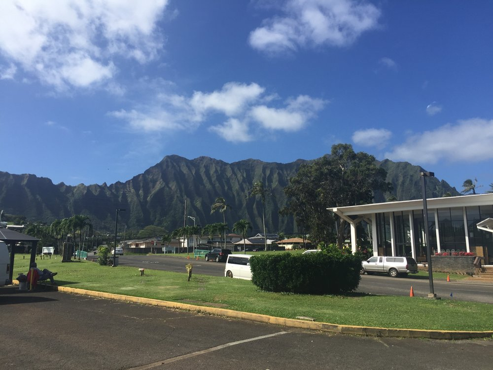 View of the Ko'olau mountains at HAWAII MEMORIAL in Kaneohe