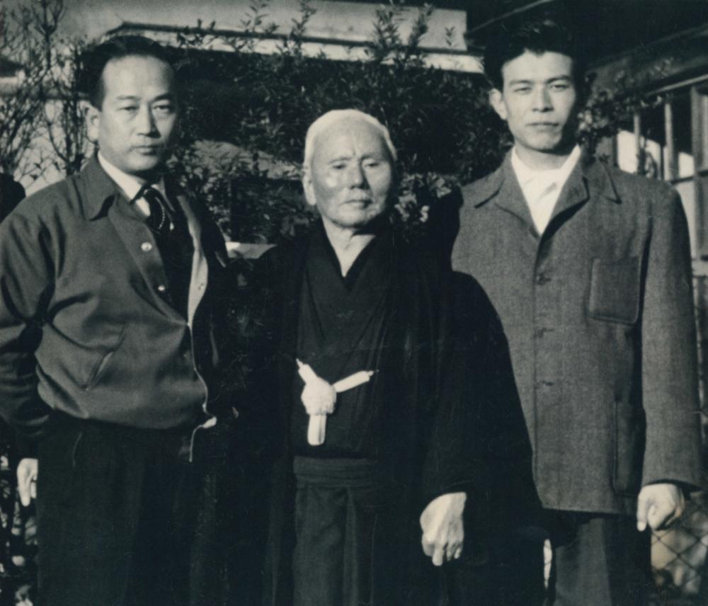 Master Masatoshi Nakayama,Master Gichin Funakoshi, and Master Teruyuki Okazaki
