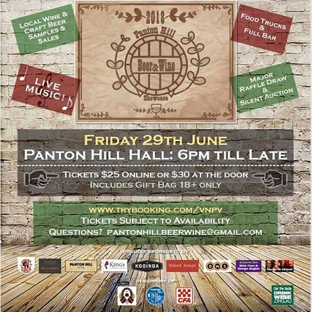 Catch us at the Panton Hill Beer & Wine Showcase this Friday 29th June where we will be giving out free Kooinda tasters 👌🍻