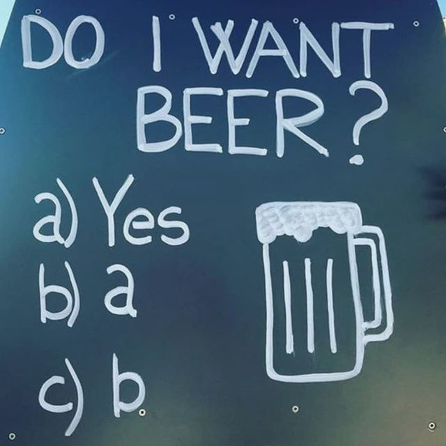 Our taproom will be CLOSED this coming Friday 6th July.  However, we will be back in action the following Friday on 13th July with live music and a food truck!! P.s. what would your answer be? 😅😂