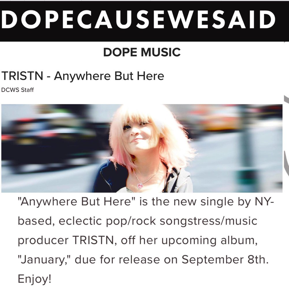 DOPECAUSE WESAID - By DCWS STAFF