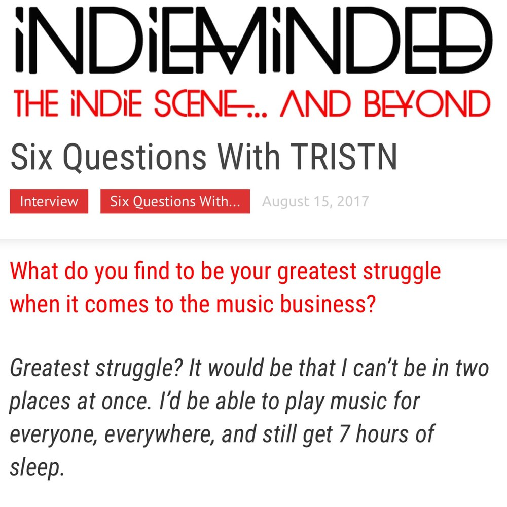INDIE MINDED INTERVIEW - BY KELLY MURPHY