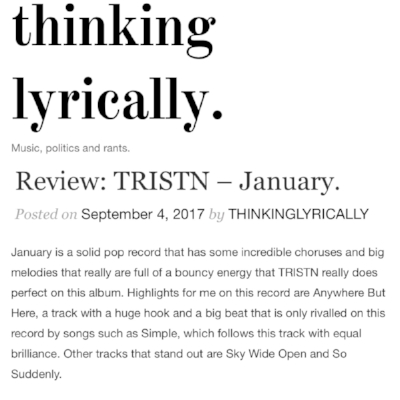 THINKING LYRICALLY - ALBUM REVIEW -