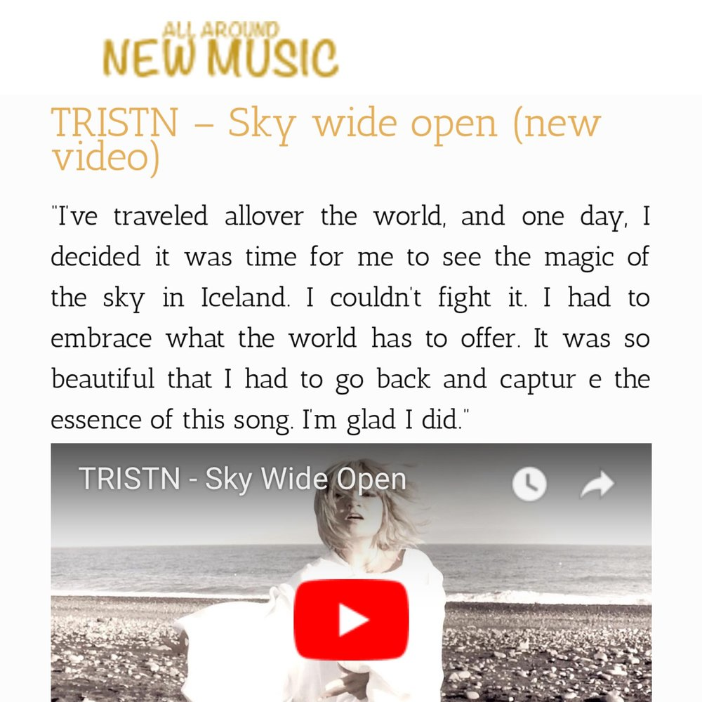 ALL AROUND NEW MUSIC - MUSIC VIDEO FEATURE(CLICK IMAGE TO READ MORE)