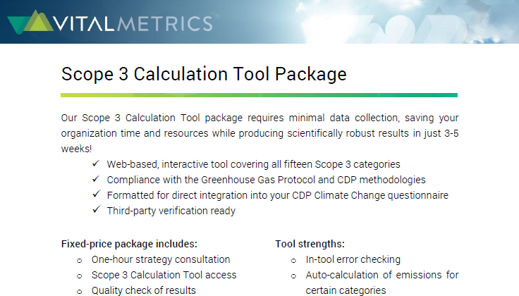 Scope 3 Emissions Calculation Tool