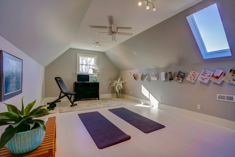 The Newest Workouts From Magazine Clippings Are Hung Along The Wall For  Easy Access. These Two Spaces Certainly Complete The Overall Package Of The  Home.