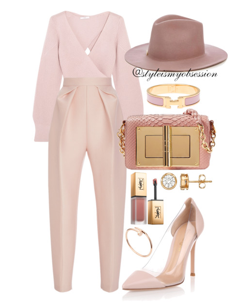 Style Inspiration Sunday Best Tome Wrap Sweater Delpozo Pants Gianvito Rossi Plexi Pink Pump Tom Ford Natalia Bag.PNG