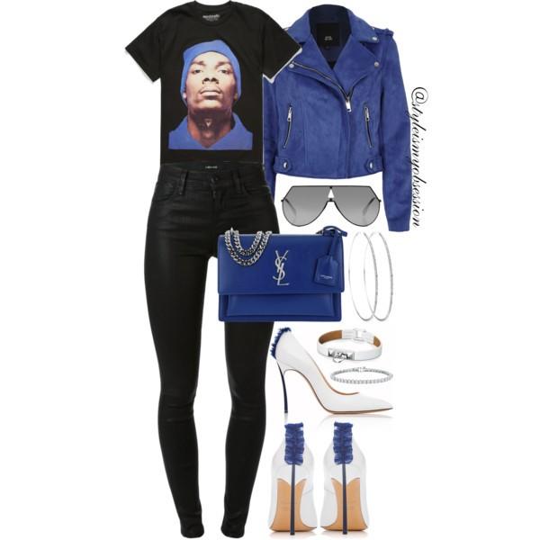 Style Inspiration Gangsta Rap Tilly's Snoop Beanie T-Shirt River Island Faux Suede Jacket Casadei Adele Blade Pump Saint Laurent Sunset Bag.jpg