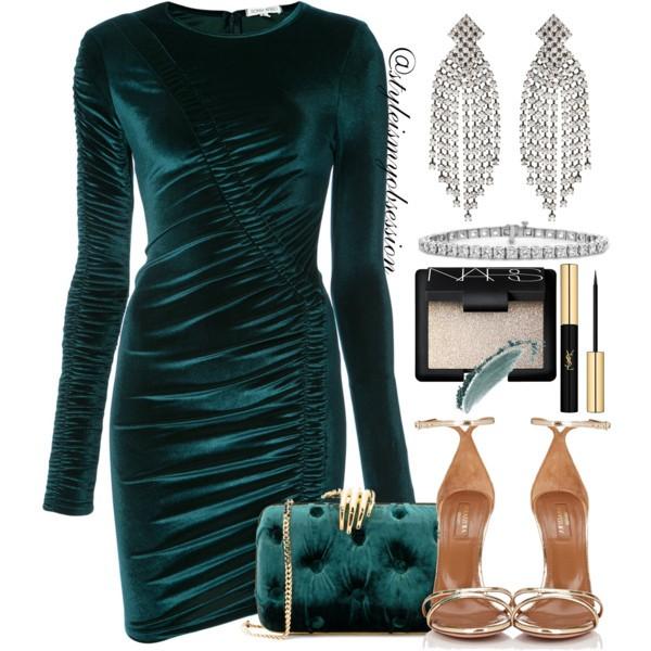 Style Inspiration A Velvet Holiday Ronny Kobo Velvet Dress Aquazzura Purist Sandal Benedetta Bruzziches Clutch.jpg