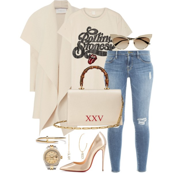 Style Inspiration Classic Rock Madeworn Rolling Stones T-shirt Frame Denim Jeans Christian Louboutin Pumps Gucci Gucci Ottilia Bag.jpg