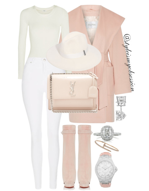 Style Inspiration Sunday Brunch Max Mara Coat Wolford Bodysuit Topshop Skinny Jeans Givenchy Shark Lock Boots Saint Laurent Sunset Shoulder Bag.PNG